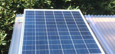 Accu opladen met zonne-energie